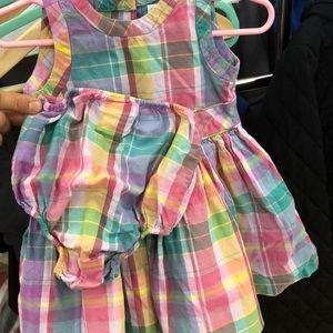 Infant girls Ralph Lauren plaidwork dress